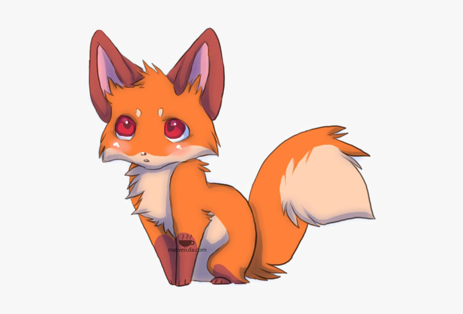 Png cute transparent cartoon. Anime clipart baby fox