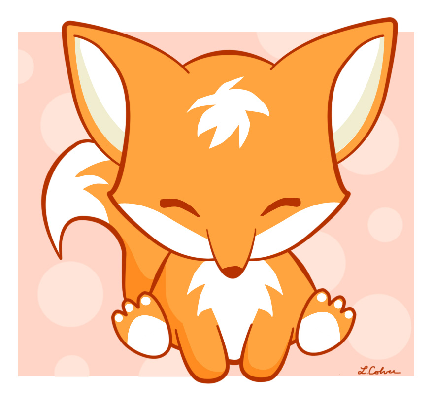 Anime clipart baby fox. The happy by lmcolver