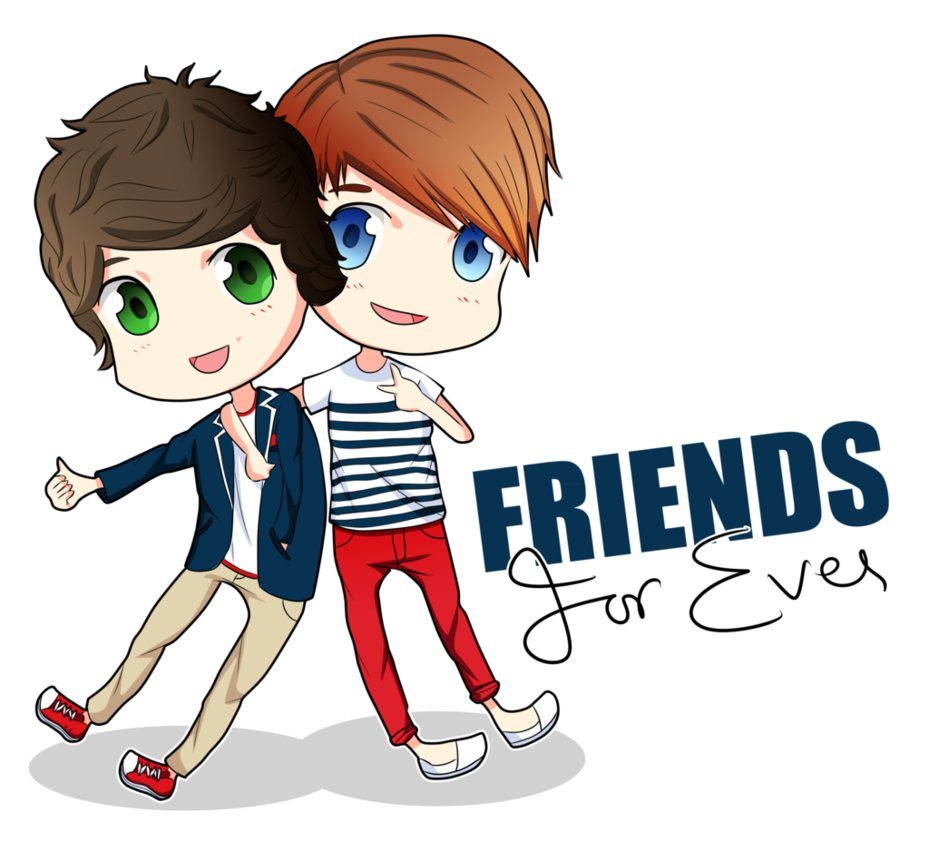 Harry and louis friends. Anime clipart best friend