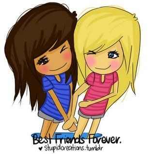Anime clipart best friend.  bffs images on