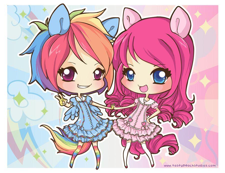 Anime clipart best friend. Rainbow dash and pinkie