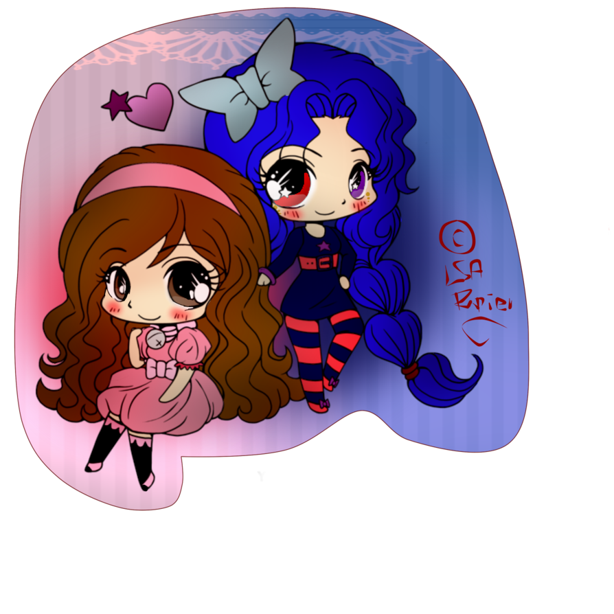 Chibi art me and. Anime clipart best friend