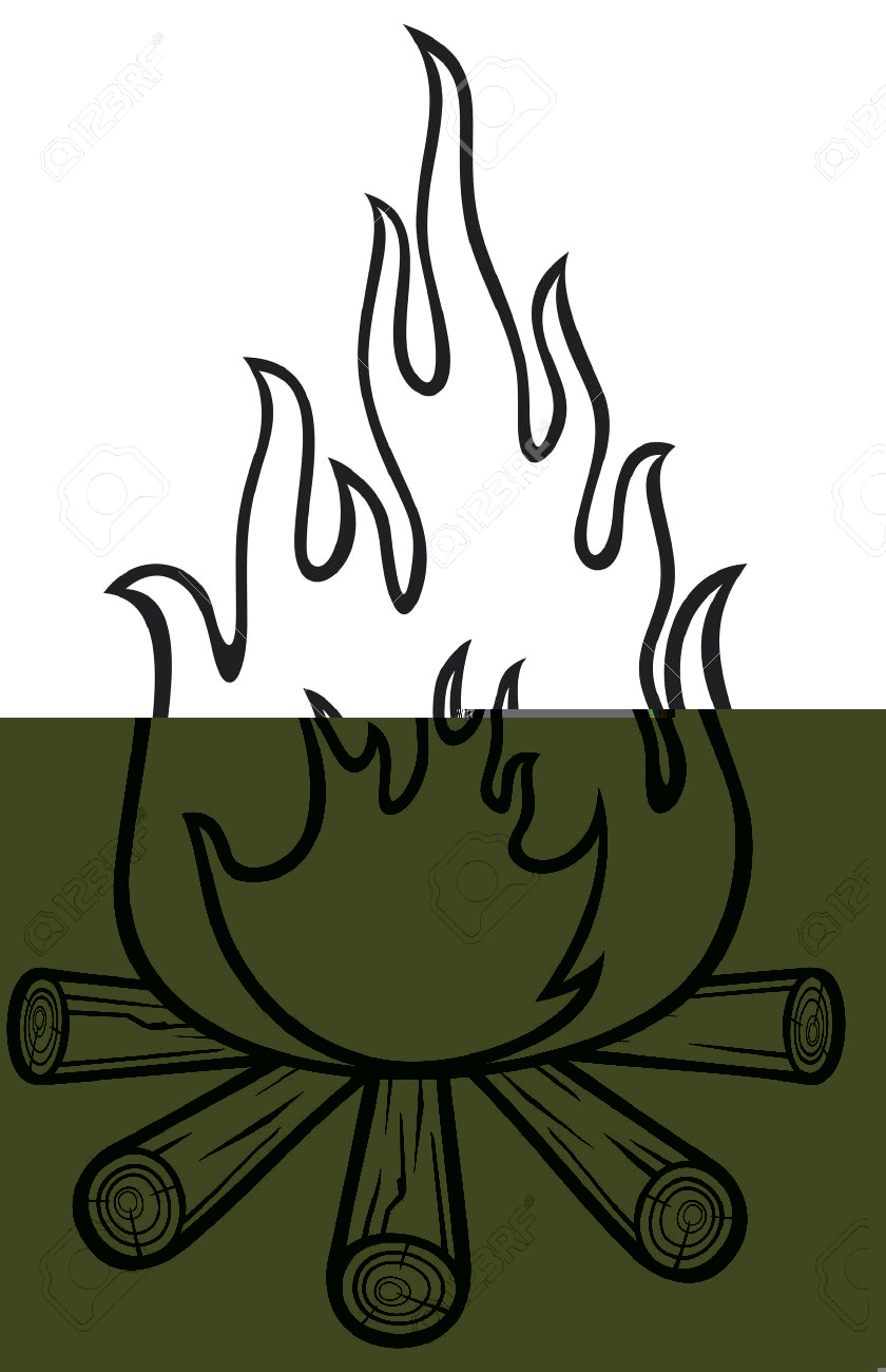 flame illustration rescuedesk. Anime clipart black and white