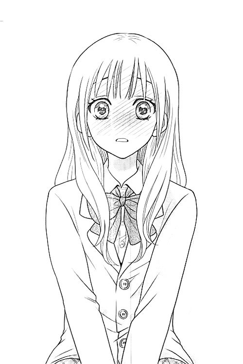 Anime clipart black and white.  best girls images