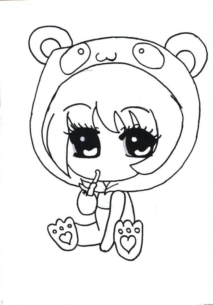 Girl drawing at getdrawings. Anime clipart black and white