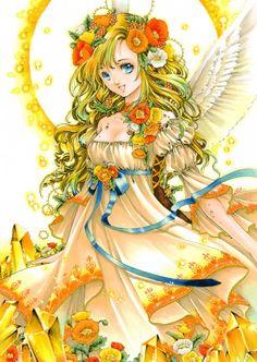 Pretty girls i think. Anime clipart blonde hair