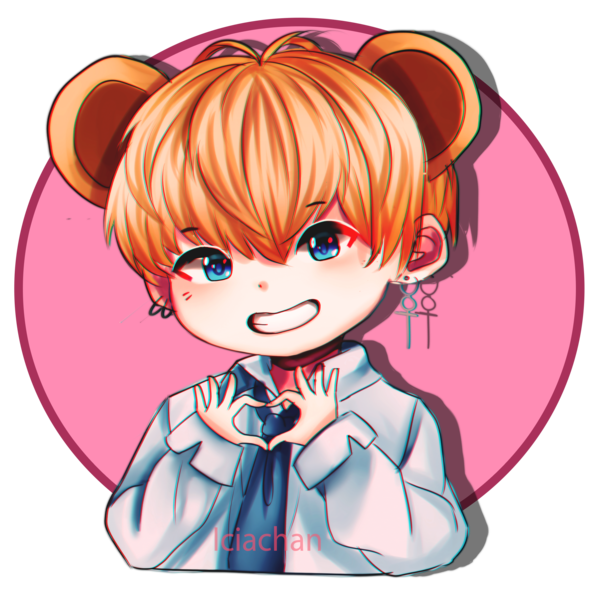 Bts stickers taehyung v. Ears clipart pop art