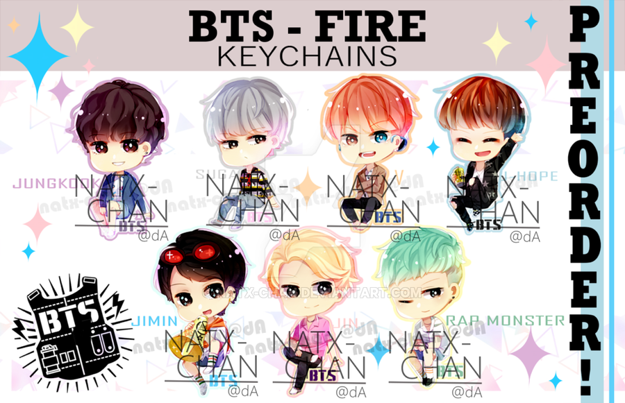 Anime clipart bts. Keychains fire by natx