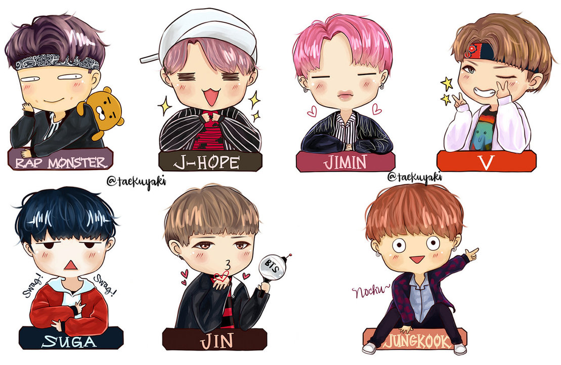 Chibi not today by. Anime clipart bts