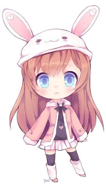 Girl miscellaneous art pinterest. Anime clipart bunny