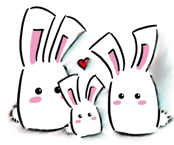 Anime clipart bunny. Glitter graphics the community