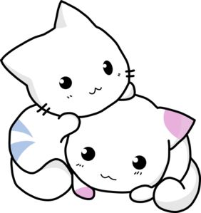 Clip art library . Anime clipart cat