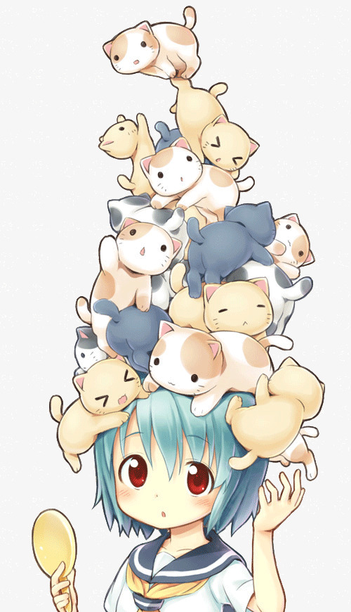 Anime clipart cat. Girl head lovely png