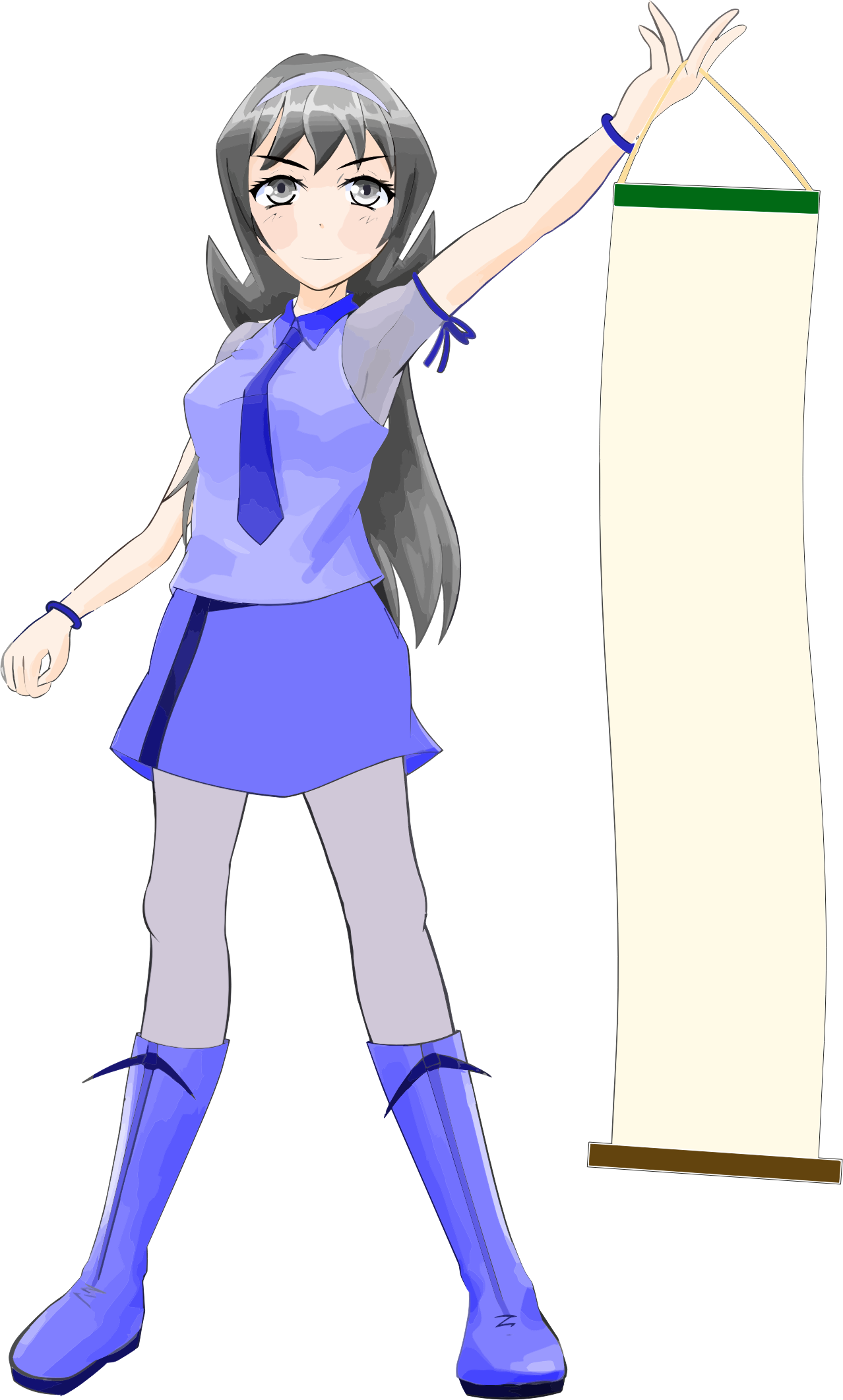 Anime clipart clip art. Girl cola mateya big