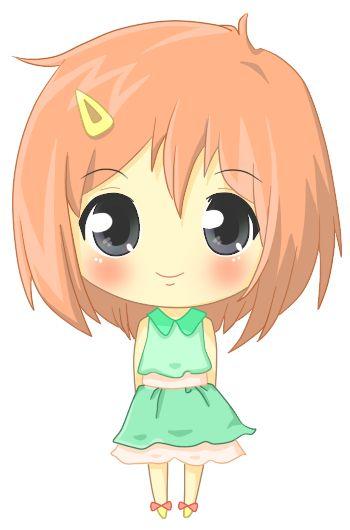 Girl kids clip art. Anime clipart cute