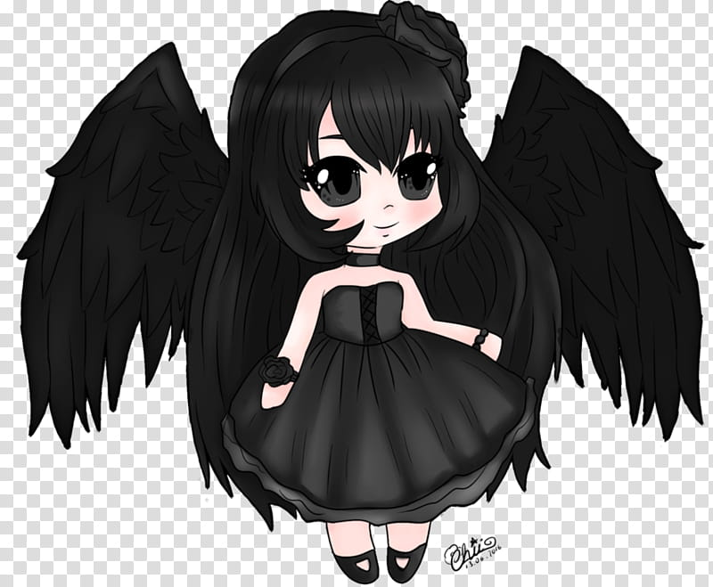 Anime clipart dark angel. Transparent background png hiclipart