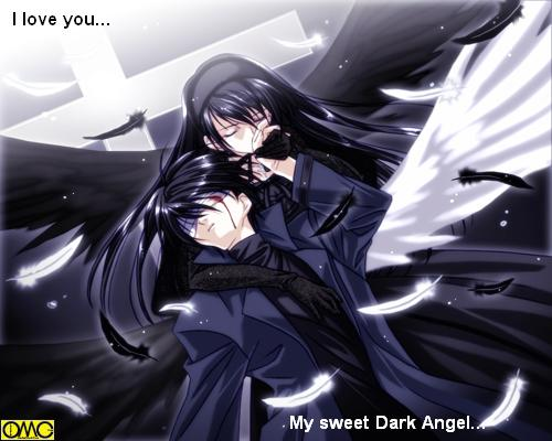 Anime clipart dark angel. Glitter graphics the community