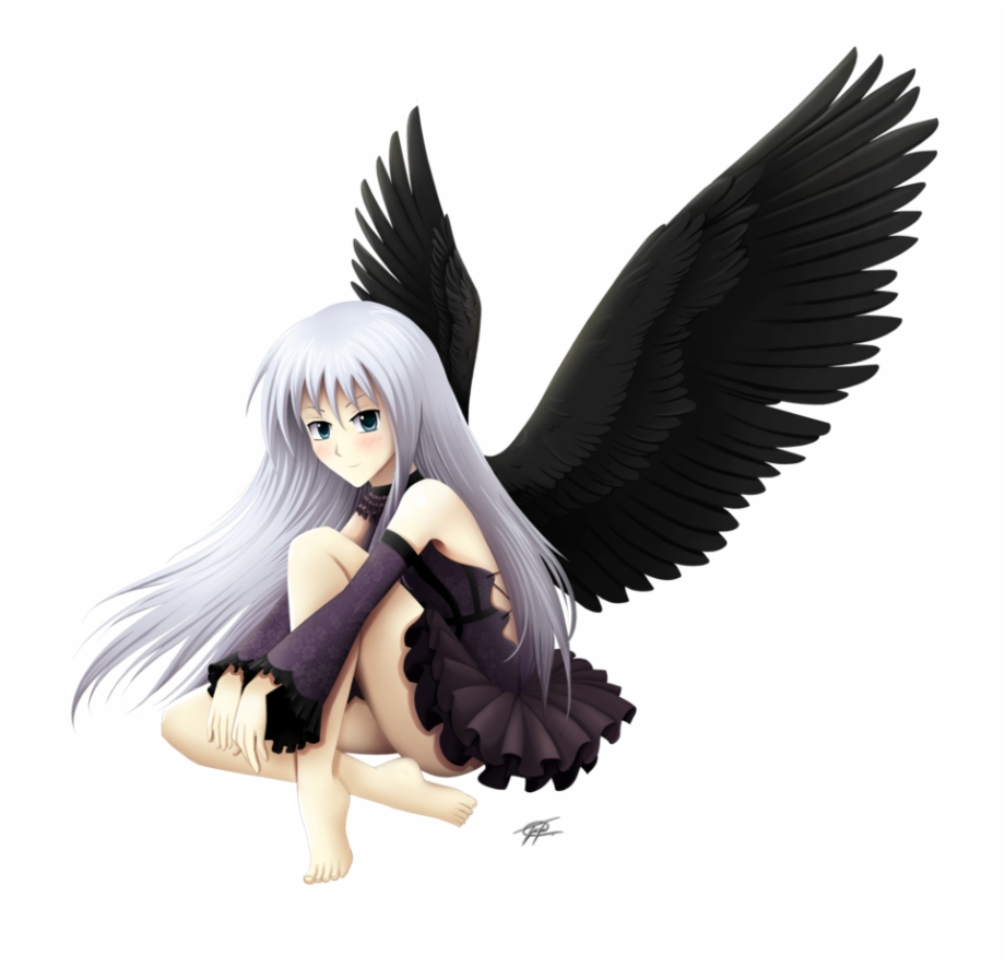 Png transparent images . Anime clipart dark angel