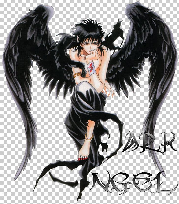 Anime clipart dark angel. Fallen demon png azrael