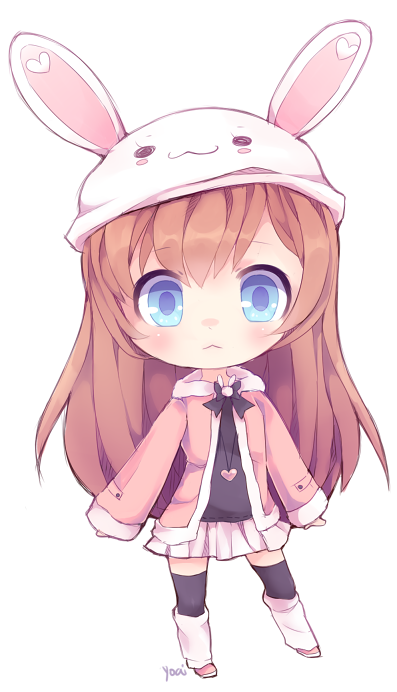 Anime clipart deviantart. Bunny by yoai on