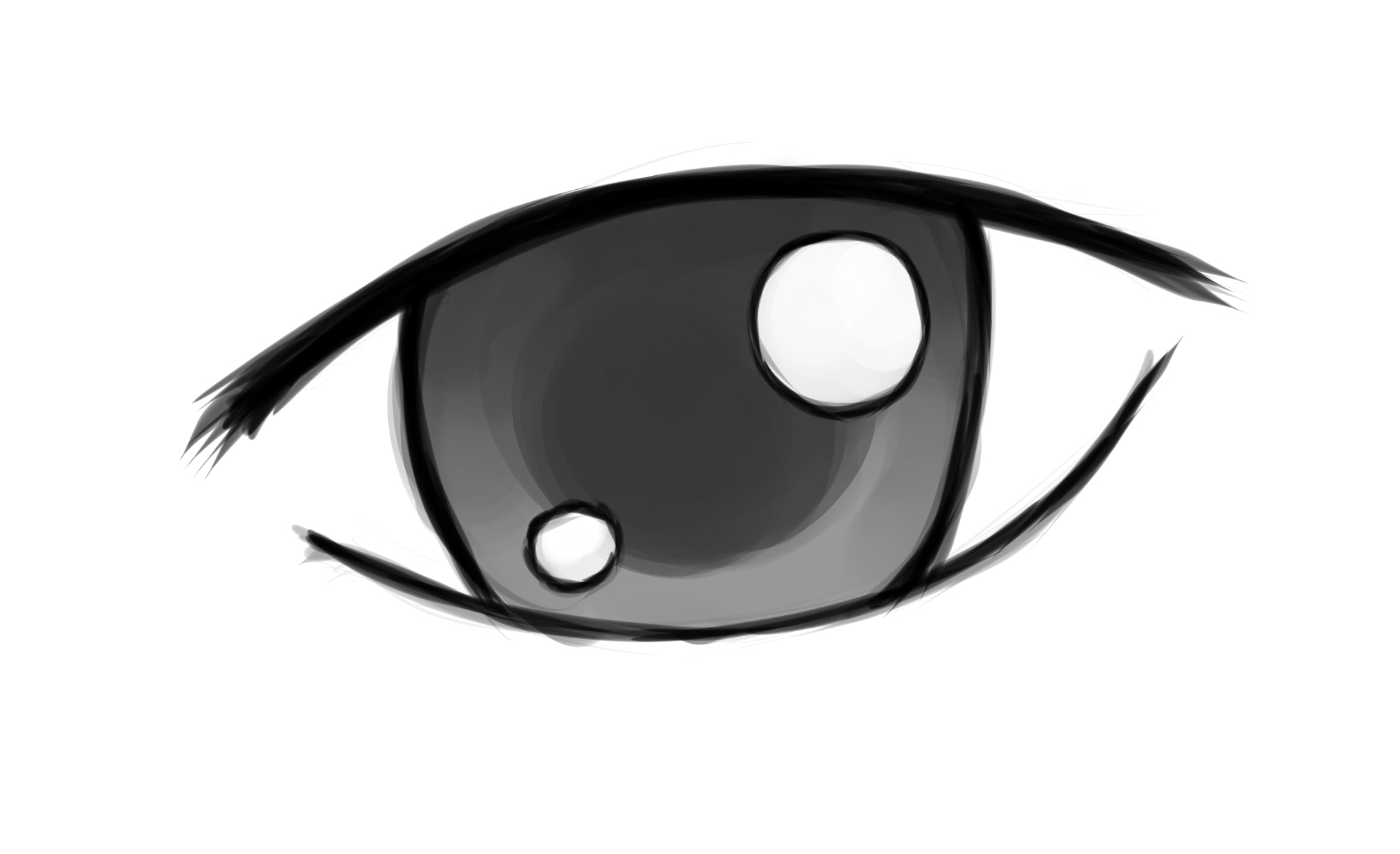 Anime clipart easy. Eye drawings to draw
