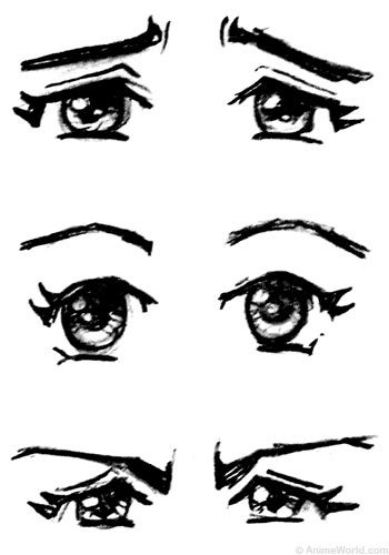 Anime clipart eye brows. Crunchyroll groups wnat to