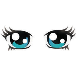 Anime clipart eye brows. Eyes stencil