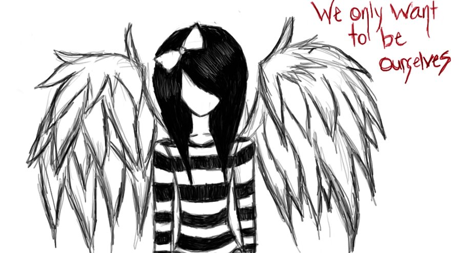 collection of emo. Anime clipart fallen angel