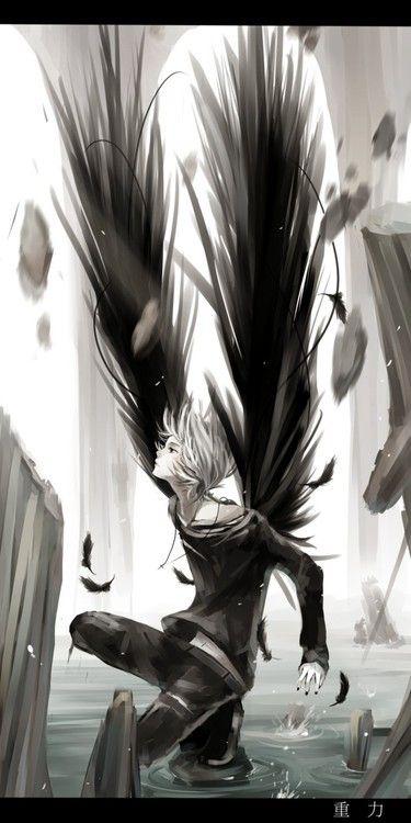 Anime clipart fallen angel.  best grey images