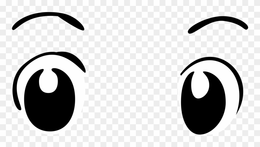 Basic wide eyes transparent. Anime clipart file