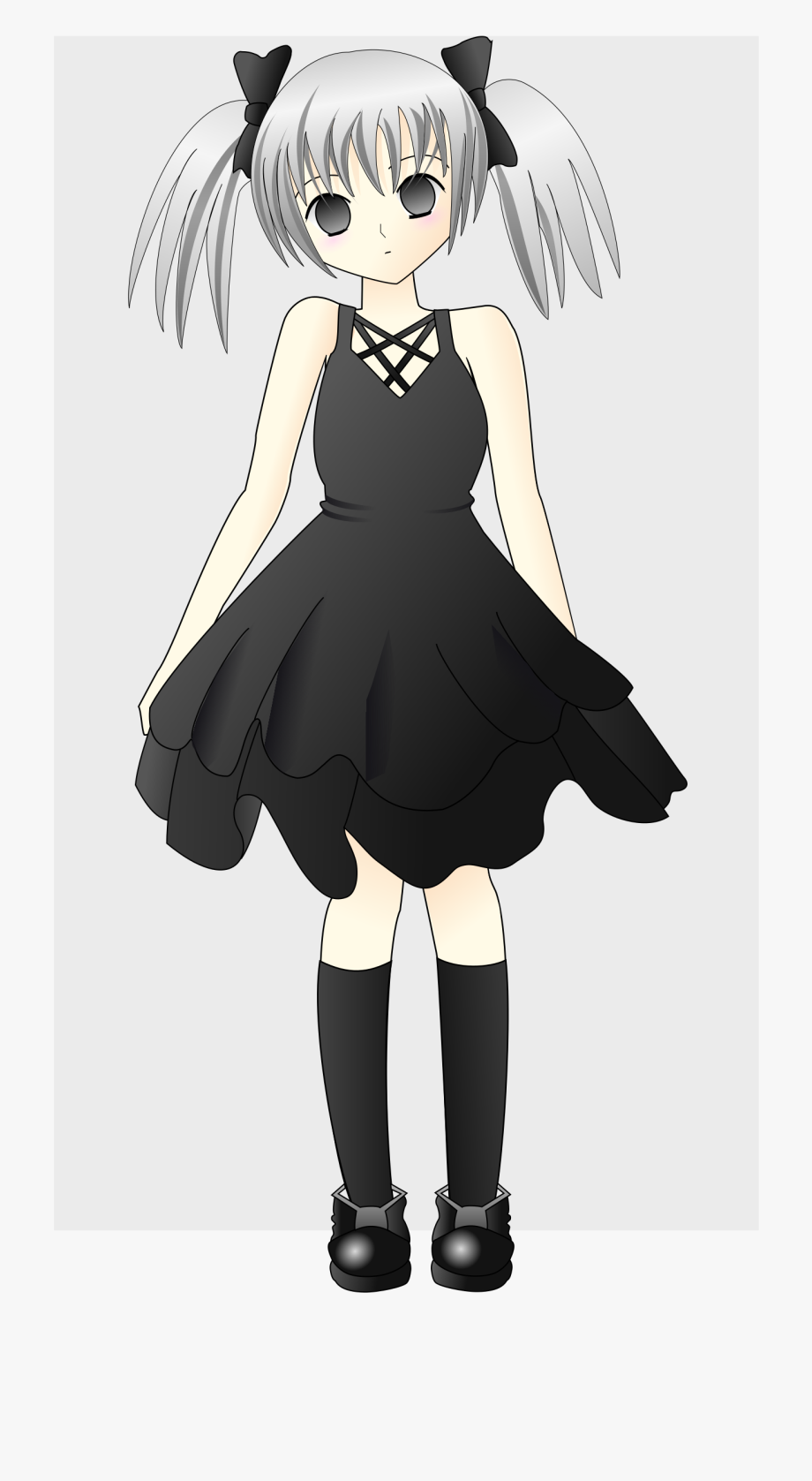 Girl with silver hair. Anime clipart free anime
