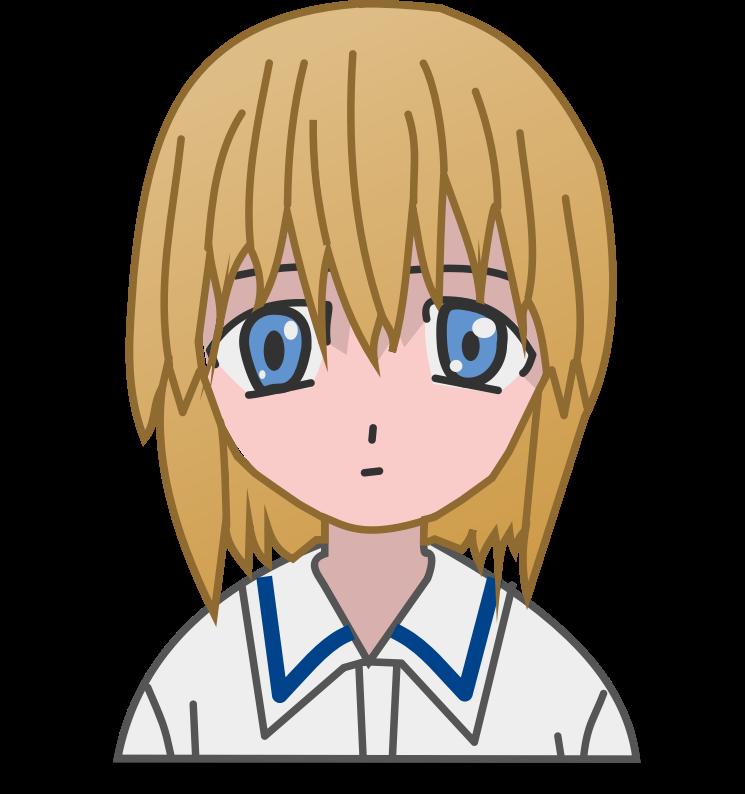 Anime clipart free anime. Cute girl clip art