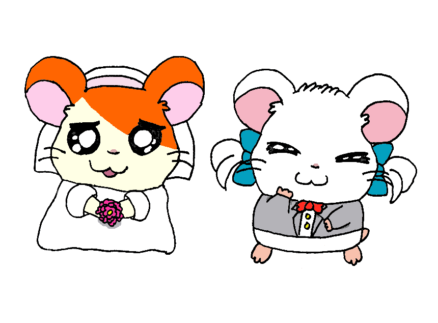 Wedding by guilmonking on. Anime clipart hamtaro