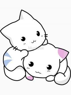 Anime clipart kitten. Sketch free on kittens