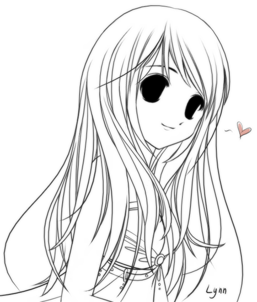 Bangs . Anime clipart long hair