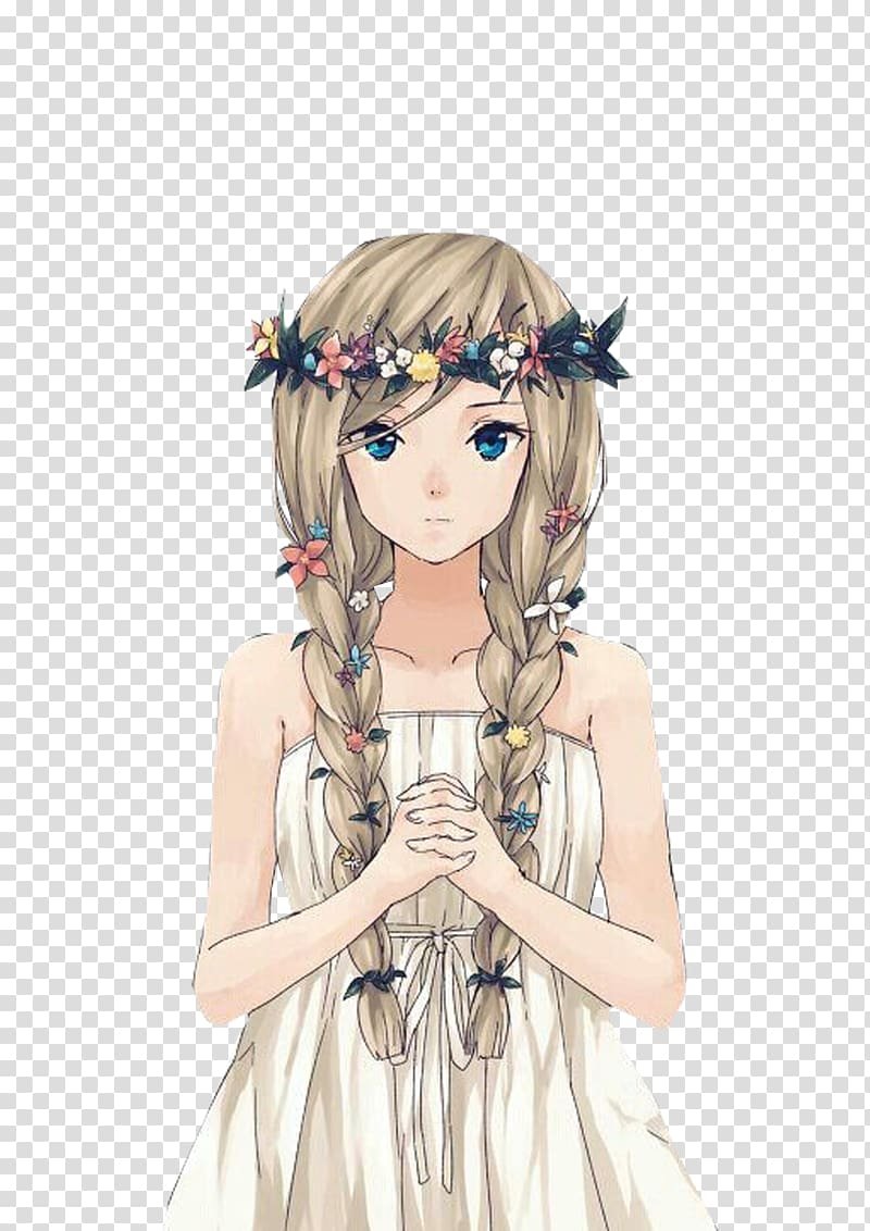 Anime clipart long hair. Brown haired female character
