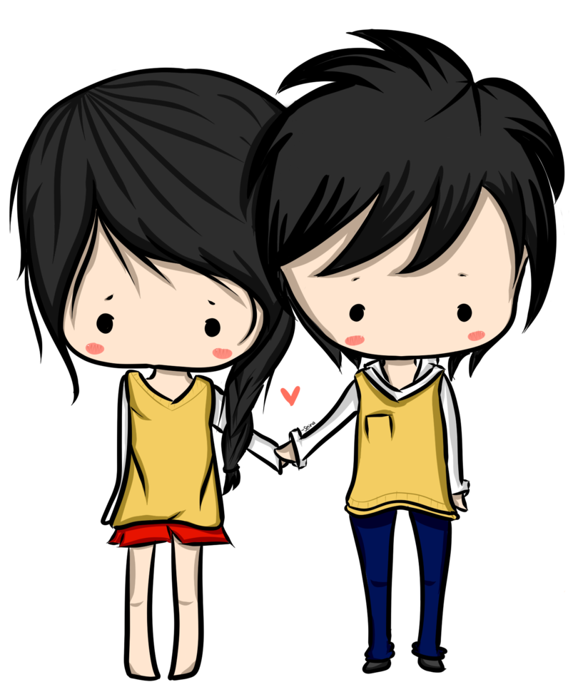 Anime clipart lover. Couple png images transparent