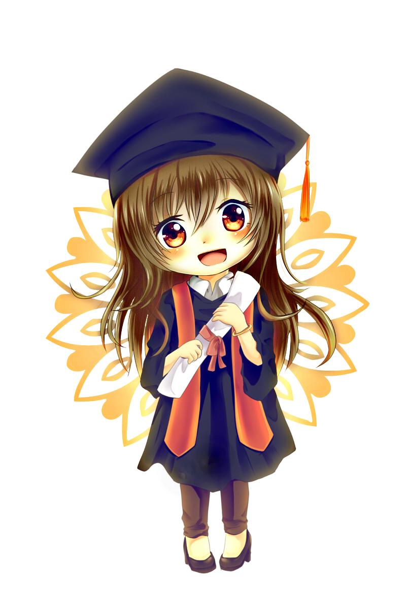 Last minute graduation gift. Anime clipart lover