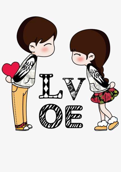 Anime clipart lover. Love couple cartoon lovers