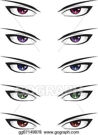 Anime clipart male. Vector stock eyes clip