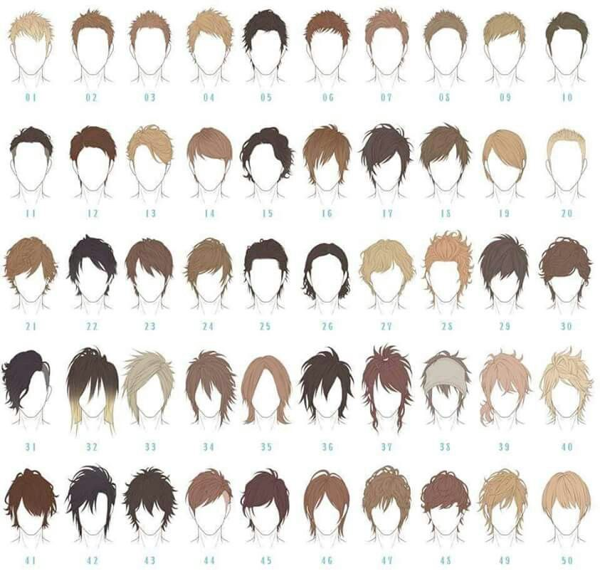 Boy hair drawing at. Anime clipart male