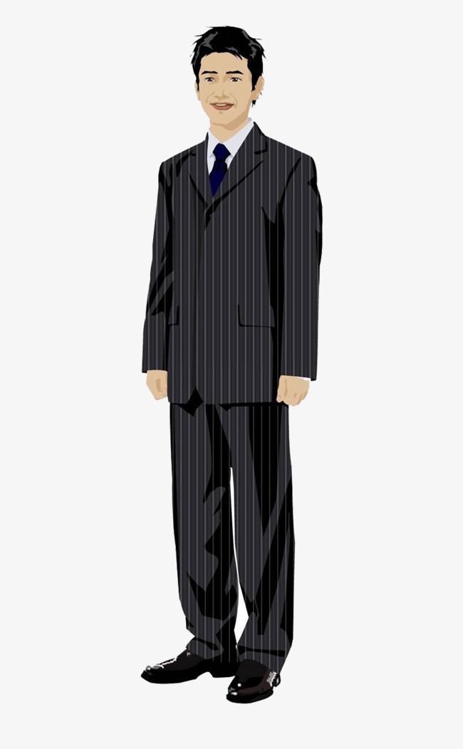 Anime clipart male. Cartoon man standing suits