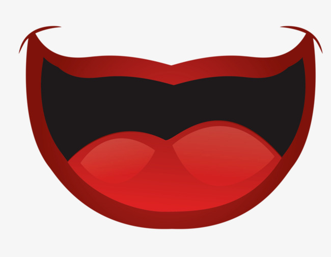 Decoration red tongue png. Anime clipart mouth