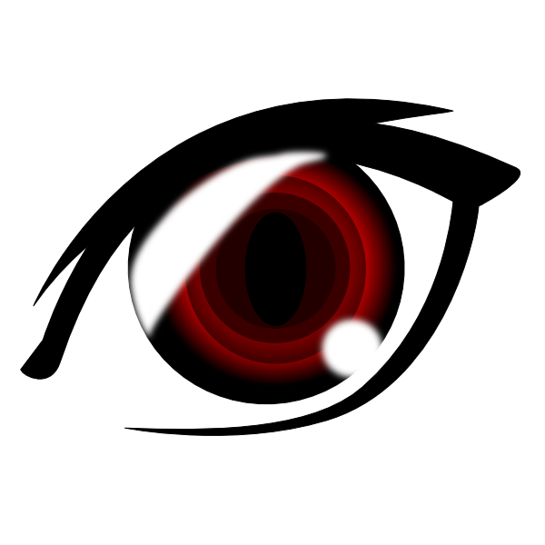 Anime eye clip art. Lips clipart vampire