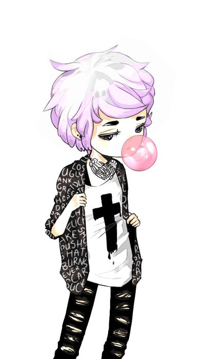 Anime clipart pastel.  collection of goth