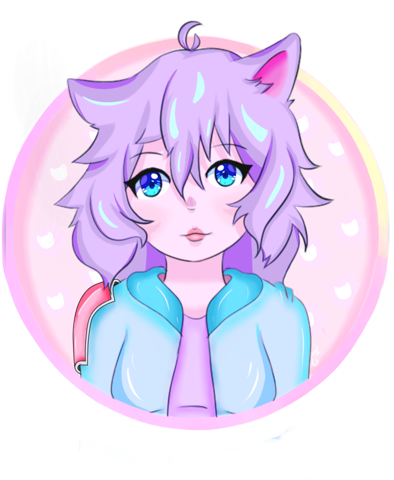Neko by galacticbella on. Anime clipart pastel