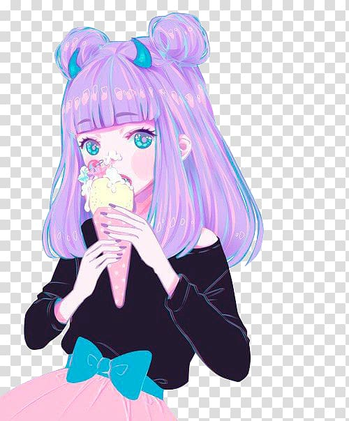 Anime clipart pastel. Kawaii art drawing transparent