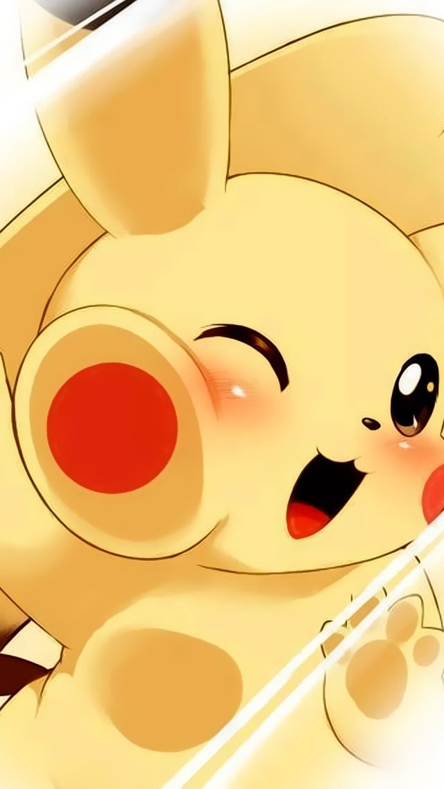 Anime clipart pikachu. Cute iphone wallpapers mobile