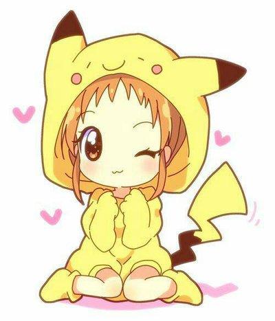 Anime clipart pikachu. Girl by hailstorm legacy