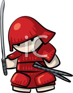 An style warrior royalty. Anime clipart samurai